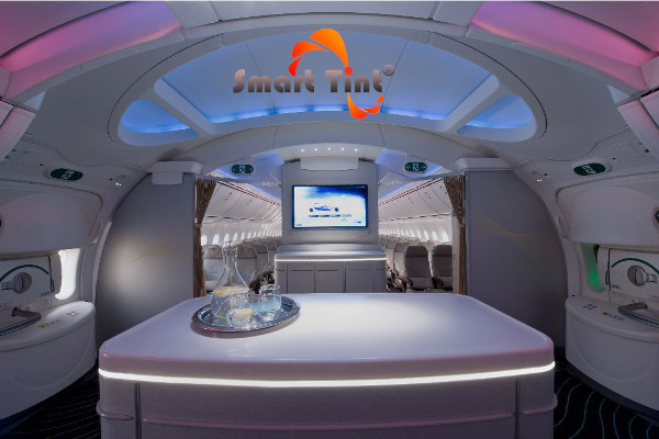 Smart Glass Film By Smart Tint Used In Boeing 787 Dreamliner