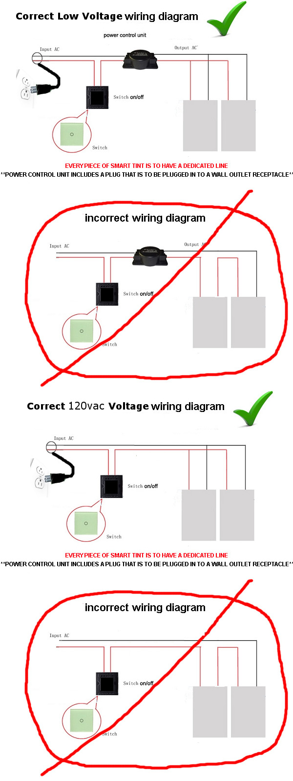 Electrical Wiring Diagram Ac Colors Should Be In A Parallel Circuit And Not Daisy Chained Series This Applies To All Of Our Material Both Low Voltage 120 Vac Line