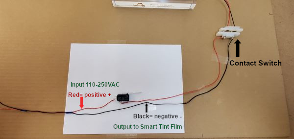 Smart Tint Contact Switch System