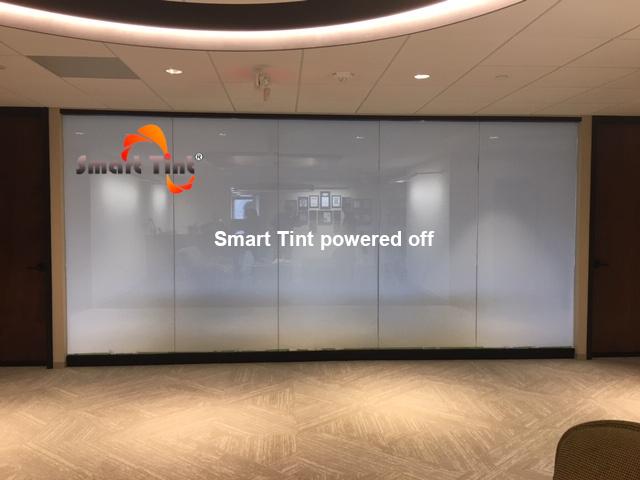 smart tint powered off