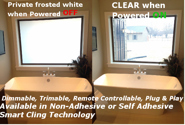 smart tint for bathroom application