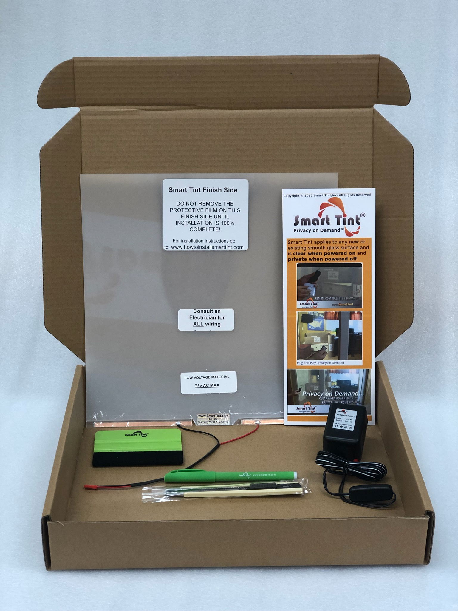 /smart tint film sample kit box plug and play