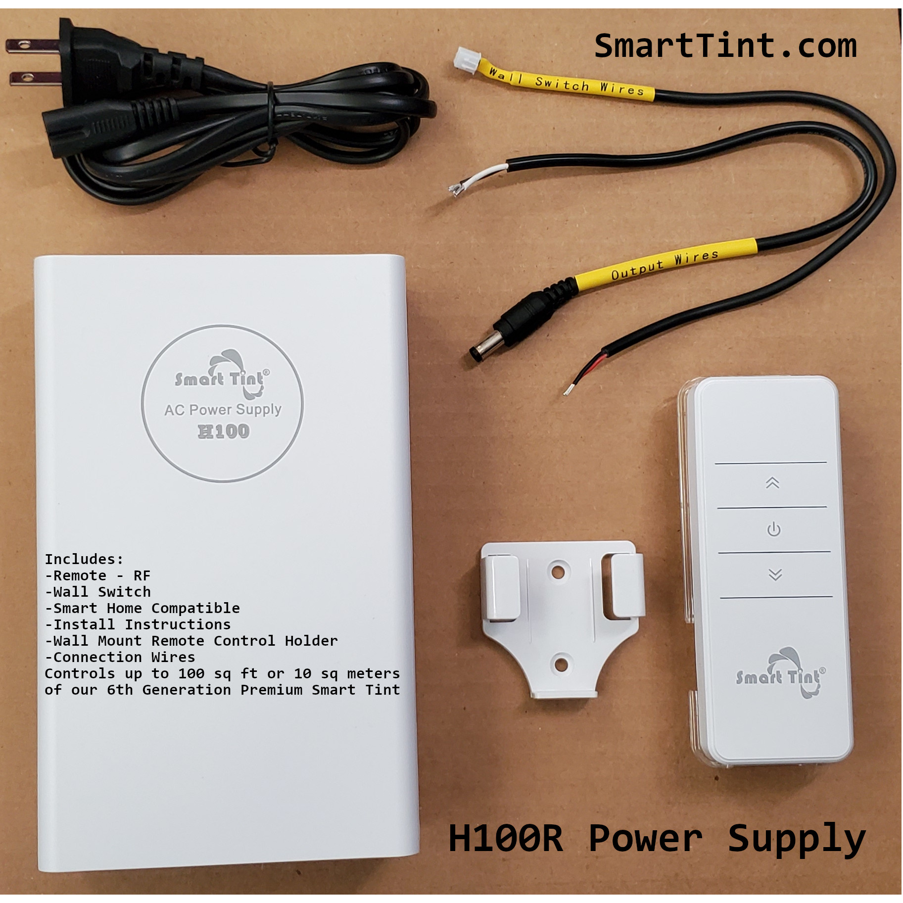 smart tint h100 power supply 100watt
