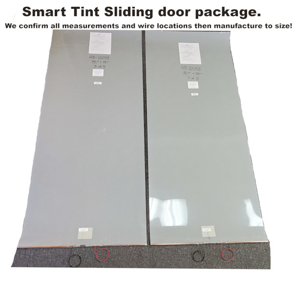 smart tint sliding door package
