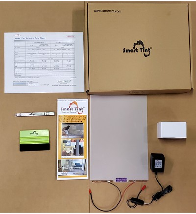Smart Tint Sample Kit with Power Supply and Installation tools