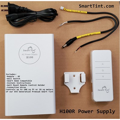 Smart Tint Power Supply H-100R with Remote Control/Wall Switch On/Off Only