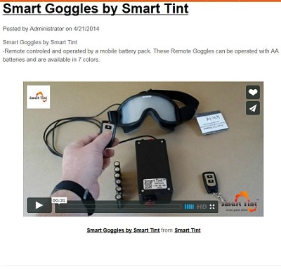 Smart goggles by Smart tint